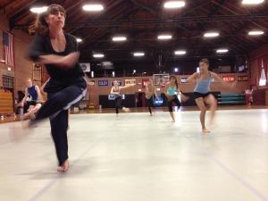Kendra Portier in motion.