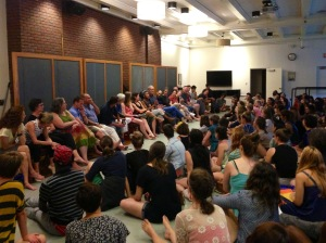 All the festival participants and faculty met Sunday evening in Chase Hall for orientation.