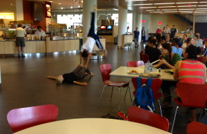 Bridgman and Packer's modern repertory class surprised us with a performance in the Commons.