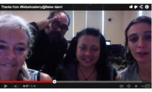 Meta-Academy participants: Nancy Stark Smith, Marlon Barrios Solano, Josephine Dorado, Rachel Boggia