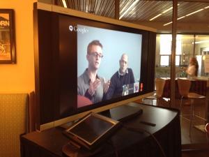 Chris Aiken and David Dorfman during our Google+ Hangout with ImPulzTanz.
