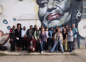 Africa Consortium partners and artists in Nairobi