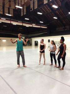 Modern teacher Tristan Koepke instructs Jill and her fellow students